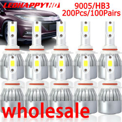 200pcs/100pairs 9005 Hb3 Led Headlight Bulbs High Low Beam Conversion Foglight
