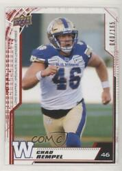 2020 Upper Deck Cfl Red /165 Chad Rempel 105