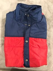 Duckworth Woolcloud Vest Merino Wool Insulated Blue/red Xl 38-40 Made In Usa