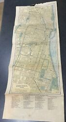 Antique Map Of Chicago 1894 The Matthews-northrup Co