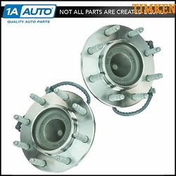 Timken Front Wheel Hub And Bearing Left/right Pair Set For Chevy Gmc Van 2wd 8 Lug