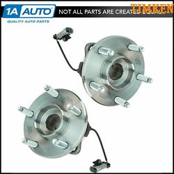 Front Wheel Hub And Bearing Pair Set Timken For Chevy W/ Abs