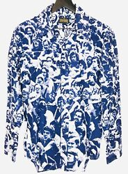 Woodstock 1970s Vintage Shirt Authentic All Over 70s Print Hippie Love Peace