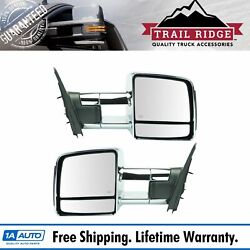 Trail Ridge Towing Mirror Power Heated Memory Signal Chrome Pair For Toyota New
