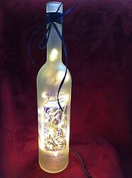 New Bling Electric Lamp 750ml Moselland Riesling Empty Wine Bottle White Leds