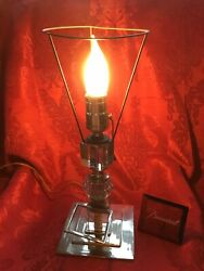 Near Flawless Stunning Baccarat France Crystal Cubes Prism 3 Tier Electric Lamp