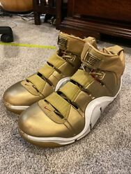 2007 Nike Zoom Lebron Iv 4 All-star Olympic Gold Medal White Red 314647-711 10