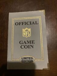 Official Game Coin Limited Edition Superbowl Xlii 00618 24kt Gold Hightlights