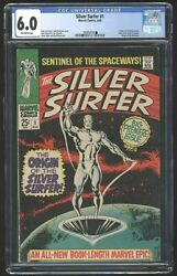 Silver Surfer 1 August 1968 Cgc 6.0 Marvel Comic Cents Copy