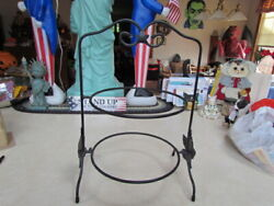 Longaberger 2-tiered Wrought Iron Stand For 9 Inch Pie Plates