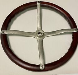 Wooden 17andrsquo Vintage 4 Spoke Spider Steering Wheel For Model A Or T Rat Rod