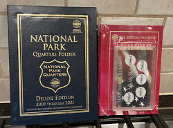 Coin Collecting Albums, Red Book, And Year Set Case For State Quarters