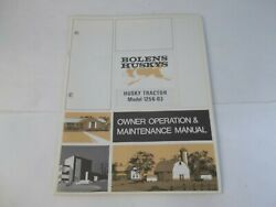 Bolens Model 1256-03 Husky 1256 Tractor Owner's Operation And Maintenance Manual
