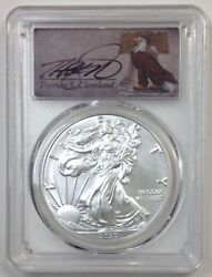 2020 1 Silver Eagle Pcgs Ms70 First Day Of Issue Thomas Cleveland Bell Pop 10