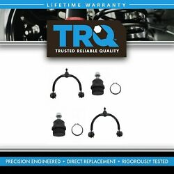 Trq 4 Piece Front Steering Suspension Kit Set Control Arms Ball Joints For Jeep