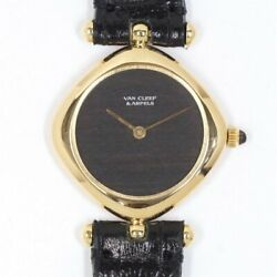 And By Gerald Genta Hand Winding Wooden Dial Yellow Gold Womenand039s