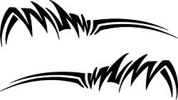 Set Of 2 Tribal Flame Vinyl Decals Truck Motorcycle Tank Car Decals A31