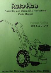 Roto-hoe 990 910 Tractor And Chipper Shredder 509t 509h Owner And Parts 2 Manual S