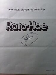 Roto-hoe 1987 Power Outdoor Equipment National Description And Price Manual Tiller