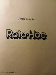 Roto-hoe 1985 Power Outdoor Equipment National Description And Dealer Price Manual