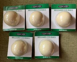 Lot Of 5 New Classic Sport Billiard Cue Balls Official Size Ball 2.25