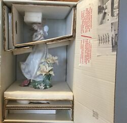 Lladro 6686 Andldquomystical Gardenandrdquo New In Box Framed Certificate And Base