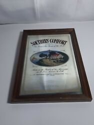 Vintage Southern Comfort Whiskey Advertising Glass Bar - Man Cave Mirror 13x9