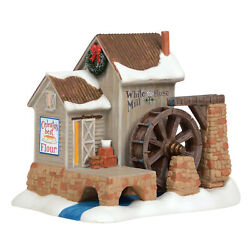 Department 56 New England Village Jim Shore White Rose Mill Animated Building