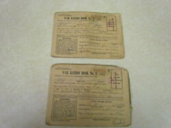 Vintage Lot Of 2 1943 War Ration Books No. 3 From Emmaus Pa.