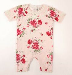 Paula Cahen Dand039anvers Baby Girl Rococo Floral Pink Romper Size 3 Months