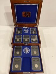The Uncirculated Buffalo Nickel Collection-danbury Mint 9 Coins In Case