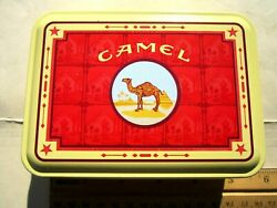 4 Camel Filters Lighters Brand New In Metal Tin 5x3.75 Collection Vintage Rare