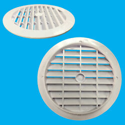 8x White Round Air Vent Grill Cover 123mm 100mm Hole Ventilation 4 Ducting