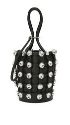 Alexander Wang Roxy Crystal Mini Bucket Bag Black RRP $507.06