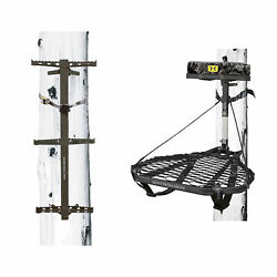 Hawk Ranger Traction Climbing Sticks With Treestand And Full Body Safety Harness