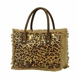Myra bag Boast Canvas and Hair On Leopard Tote Bag $41.65