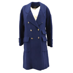 40 Cc Button Double Breasted Long Sleeve Jacket Coat Cashmere 36784