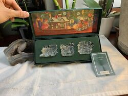 Waterford Marquis Crystal The Christmas Train - 3 Piece Set W/original Box New