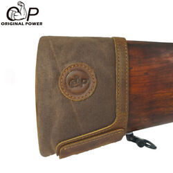 Leather Canvas Slip On Rifle Recoil Pads Gun Extension Pad For Rifles Shotguns