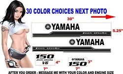Yamaha Outboard Engine Decals Kit Stickers Decal 125 150 200 225 250 300 350