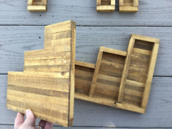 O Scale, Gauge Timber Frame Retaining Walls Set Of 2 / Train Scenery