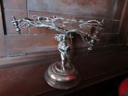 Stunning Antique Tazza 1890 Archer Arrows And Quivers Valentines Cupid Silverplate