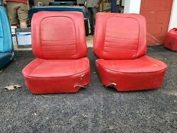 1958 Corvette Seat Frames With Tracks Track Control And Cushions
