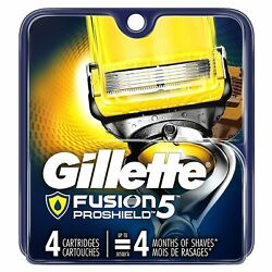 Gillette Fusion5 Proshield Menand039s Razor Blade Refills - 4 Count - Pack Of 6