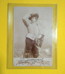 Victor Maurel Handsigned Don Giovanni¨ Photo 4½ X 6½ By A.dupson New York