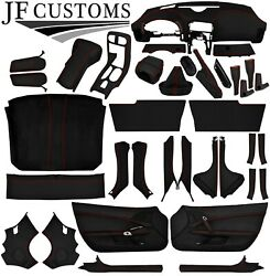 Red Stitch Leather Covers For Corvette C6 05-13 Full Interior Recovery Kit