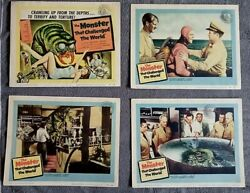 Monster That Challenged The World Lobby Card Set Sci-fi Tim Holt Audrey Dalton