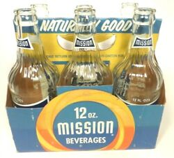 Vintage Acl Pop Soda Bottles Carrier And 6 Bottles 12oz Mission Of Ford City Pa