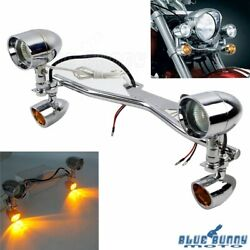 Motorcycle Led Fog Auxiliary Spot Light Bracket Bar For Honda Shadow Vt 750 1100