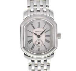 Tiffanyandco. Mark Coupe 17093355 Silver Dial Ss Quartz Ladies Watch S100751